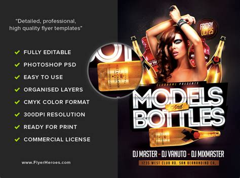 template flyer model models and bottles flyer template flyerheroes