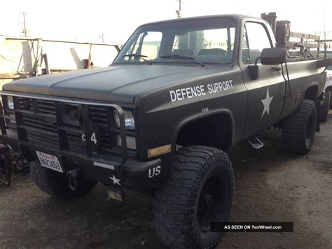 chevrolet army truck 1984 cheverolet blazer army truck