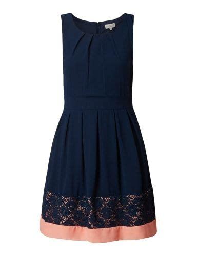 apricot kleid mit floraler spitze marineblau kleider