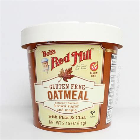 Oatmeal Giveaway - nutrition at home or on the go bob s redmill oatmeal cups