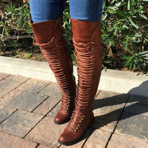 thigh high combat boots colors available