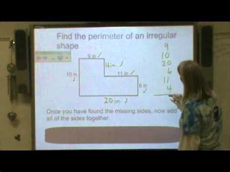 area perimeter  irregular shapes youtube