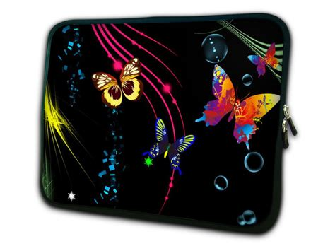 Colorful Netbook Sleeves by Free Shipping Colorful Butterfly Soft Bag 9 Quot 10 Quot 10 1 Quot 10