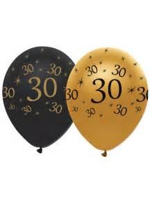 6 ballons noir et or 30 ans d 233 coration anniversaire et