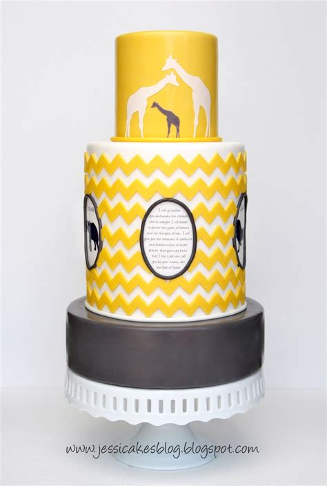 Chevron Themed Baby Shower by Chevron Inspired Safari Themed Baby Shower Cake
