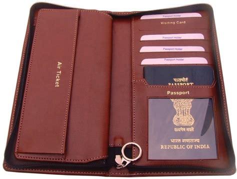 passport wallet brown intl sukeshcraft travel wallet brown price in india