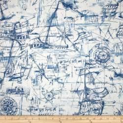 Premier prints schooner nautical discount designer fabric fabric