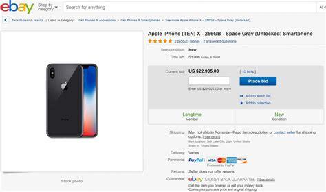 ebay iphone x iphone x son prix n est pas de 1329 mais de 23 000