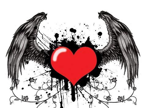 imagenes de corazones goticos con alas te cuento como voy a pasar san valentin manga y anime