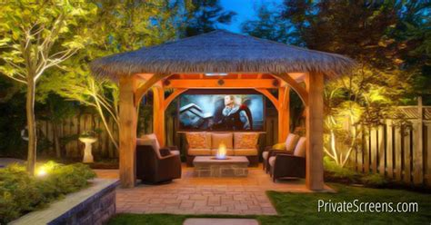 backyard theater how to turn your gazebo into an outdoor theater