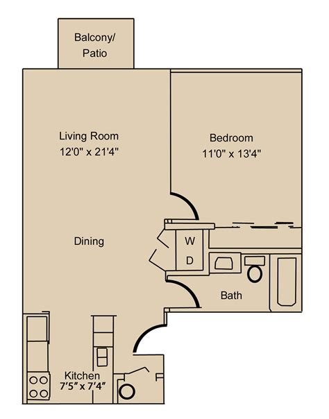 1 bedroom apartments fort wayne eastwind floorpolan willow creek crossing apartments