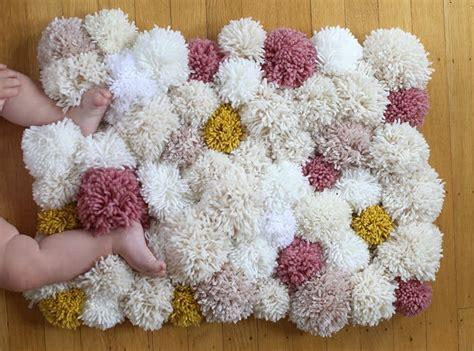 pom pom rug pom pom rugs are a easy diy to try the whoot