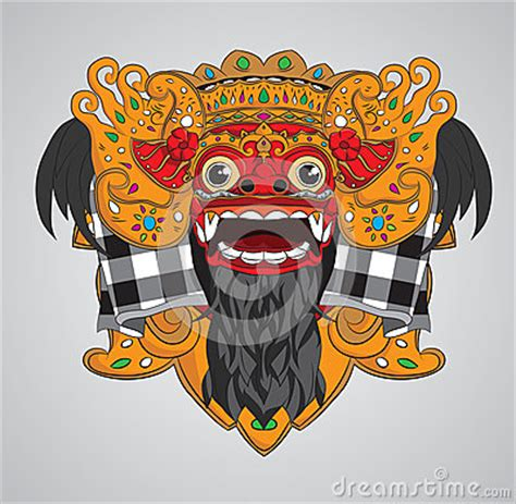 Kaos Indonesia Unite Graphic 2 barong mask stock photo image 30273840