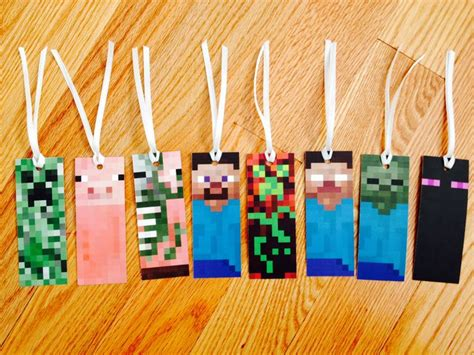 minecraft bookmarks free printable available at http