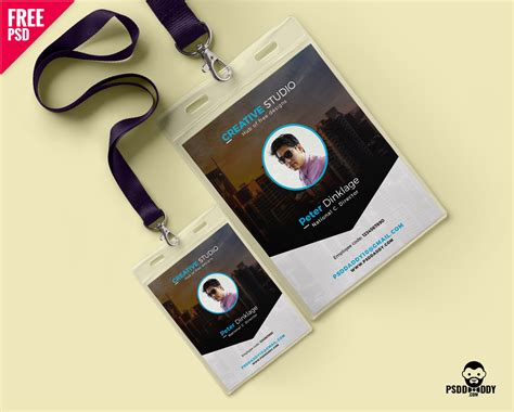 id card design template psd free download download free office identity card psd psddaddy com