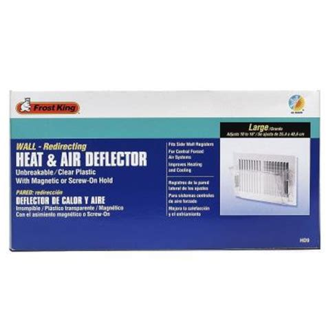 Heat Register Deflector by 4 1 8 In X 10 1 8 In Plastic Sidewall Heat And Air