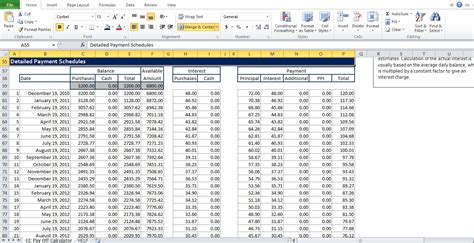 excel spreadsheet with card template credit card payoff calculator excel template excel tmp