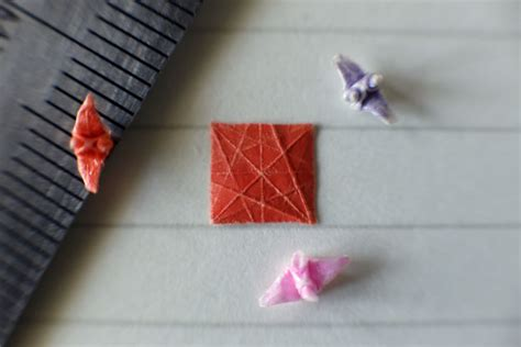 Tiny Origami - i make incredibly tiny origami cranes that take me around