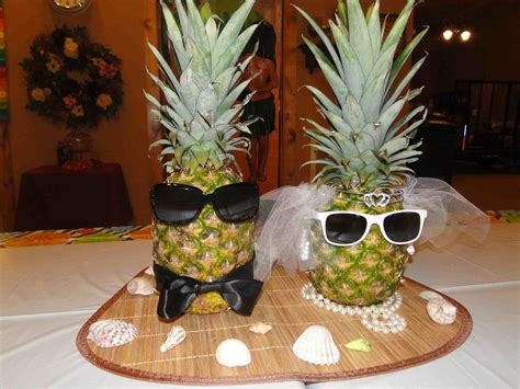 easy tropical themed wedding centerpieces and inexpensive