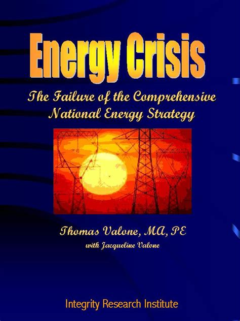 Energy Crisis by Energy Crisis The Failure Of The Comprehensive National