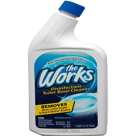 works bathroom cleaner the works 32 oz toilet bowl cleaner 03310wk the home depot