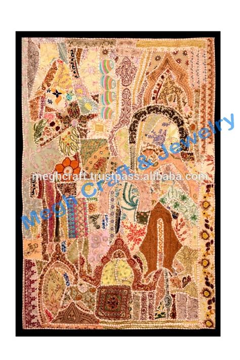 Handcrafted Wall Hangings - wholesale vintage sari wall hangings indian tapestries