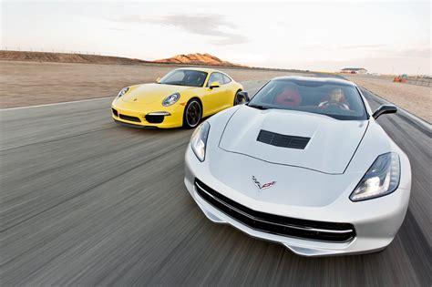 2014 chevy corvette stingray vs 2013 porsche 911 track