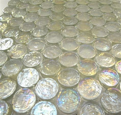 Bathroom Tiles Toronto - iridescent glass circles contemporary tile toronto by cercan tile inc