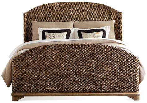 seagrass bed queen woven seagrass bed by riverside furniture wolf and