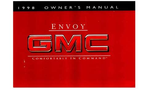 vehicle repair manual 1999 gmc envoy electronic toll 1998 gmc envoy owner s manual car maintenance tips
