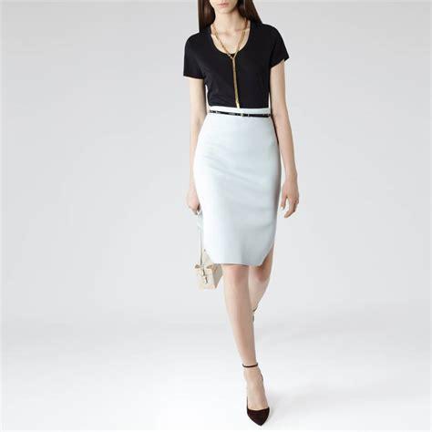 light blue pencil skirt light blue neoprene jersey pencil skirt brandalley
