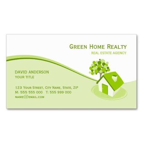 real estate business cards templates free real estate environment sustainable business card estate