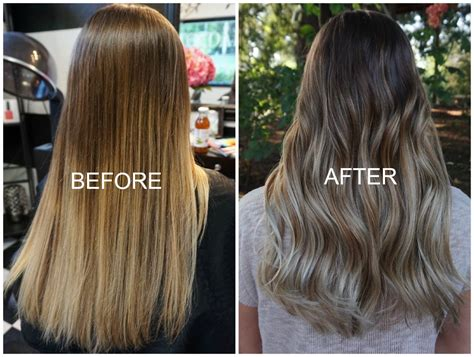 balayage highlights before and after home kit the quot diy ombre quot gone wrong before and after balayage