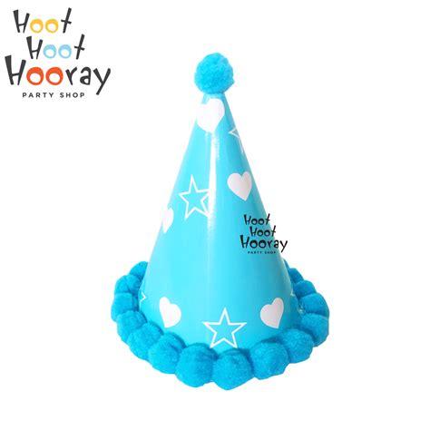 Topi Kerucut Pink Polkadot Topi Ultah Topi Ulang Tahun jual topi ulang tahun kerucut topi ultah kapas topi pesta birthday props hoot hoot hooray