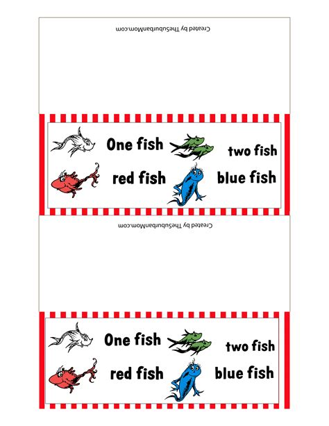 6 Best Images Of Red Fish Blue Fish Printables One Fish One Fish Two Fish Fish Blue Fish Coloring Page