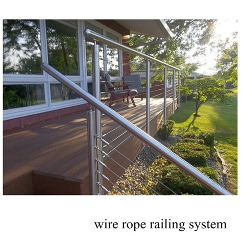 Wire Rope Handrail Systems stair wire rope railing stainless steel wire rope tensioner