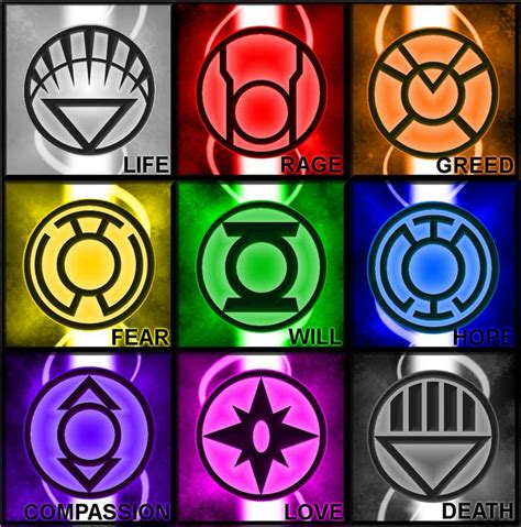 dc colors the lantern rings logos and posters lanterns marvel