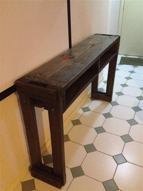 rustic pallet hallway tableside table pallet furniture