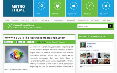 metro template blog seo friendly free blogger template