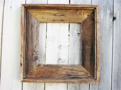 reclaimed wood frames rustic reclaimed wood frame by rustic cottage traditional picture frames by etsy