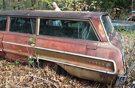 1964 impala wagon parts junkyard classic cars cars barn finds