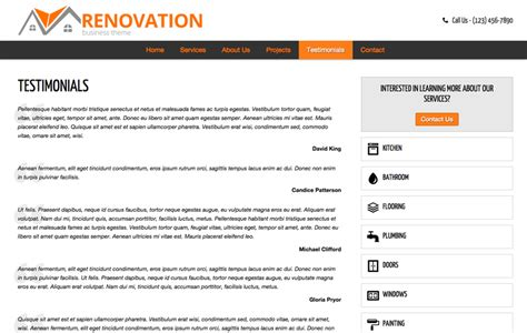 renovation theme renovation wordpress theme template for the renovation