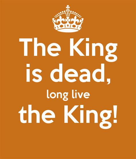 the king is dead live the king poster kostas