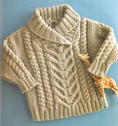knitted collar pattern baby aran cable shawl collar 22 quot 26 quot aran