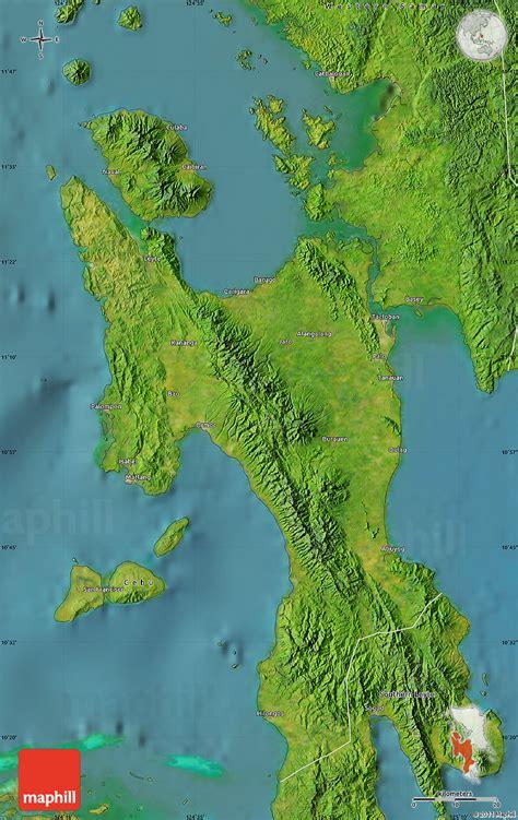map philippines satellite satellite map of leyte
