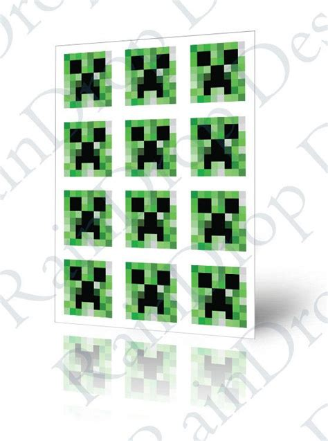 printable minecraft stickers creepers minecraft and stickers on pinterest