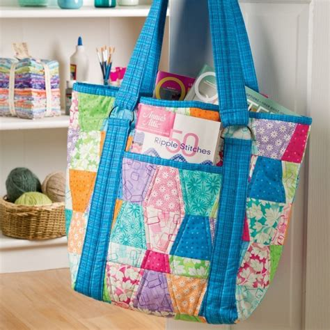 How To Make A Quilt Tote Bag by Free Patternpile Sew Quilt Knit And Crochet Gifts Part 4