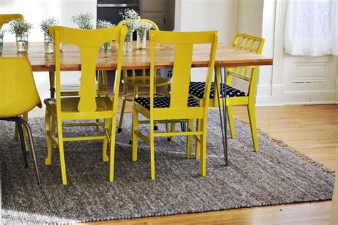 Mismatched Dining Room Chairs Best 25 Yellow Chairs Ideas On Yellow Armchair Binfield F C And Midcentury L Sets