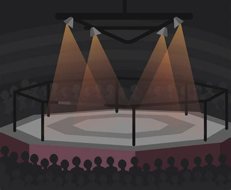 layout of vector arena boxing arena vector vector art graphics freevector com
