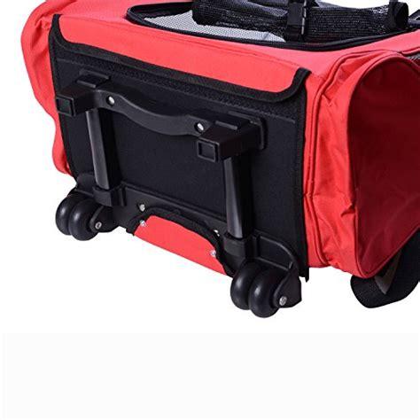 trasportino per cani aereo cabina outsunny trolley zaino per cani gatti ed altri animali 2